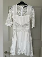 For Love & Lemons Women's NBW Authentic Fitted Lace Mini Dress White S,BNWT