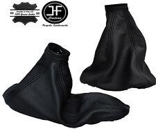 BLACK STITCH GEAR HANDBRAKE & GAITER REAL LEATHER FITS ALFA ROMEO 145 146 94-01