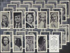 More details for hill (rj)-full set- famous film stars (english text 40 cards) - exc
