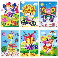 Baby Kids Developmental 3D Crystal Mosaics Art Sticker Mosaic Craft Kit Toy New