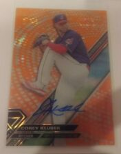2017 Topps High Tek COREY KLUBER Orange Magma Parallel Autograph INDIANS 15/25