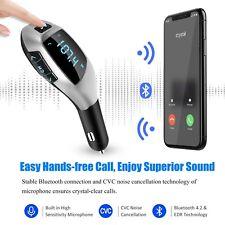 Wireless 2 USB Car Bluetooth FM Transmitter Radio Adapter Charger Mp3 Player UK