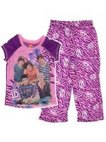 One Direction Purple Pajamas for Girls Sz 4-6