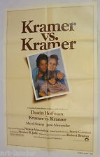 KRAMER vs. KRAMER Dustin Hoffman Meryl Streep Original 1979 Movie Poster 27x41