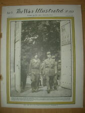 WAR ILLUSTRATED MAG No 185 JULY 21st 1944 KING VISITS VICTORIOUS ARMY IN FRANCE