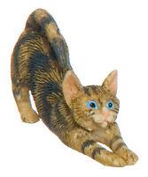 Dollhouse Miniature Cat Curled Asleep Grey A878GY