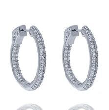 9fe253978 Rhodium Plated Hoop Fashion Earrings for sale | eBay
