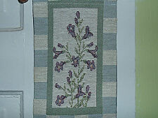 Hanging Wall Tapestry Floral Banner 40in. Checker Pattern Home Decoration