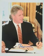 Bill Clinton Hand-Signed, Autographed 8x10 w/ Coa + Rare Hillary Collector Card!