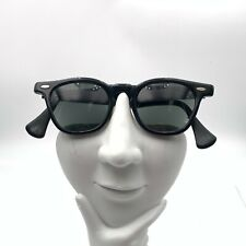 Vintage Styl-Rite Black Oval Horn-Rimmed Sunglasses FRAMES ONLY