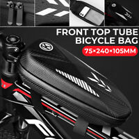 Waterproof Mountain Bike Bicycle Bag Frame Front Tube Bags Storage Pack Pouch