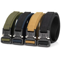 """1.5"""" Tactical Nylon Web Belt Quick Release Metal Buckle Sports Military Straps"""