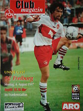 Programm 1997/98 1. FC Nürnberg - SC Freiburg