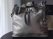 BEAUTIFUL Michael Kors FRANKIE Drawstring CHAIN TOTE PYTHON EMBOSSED LEATHER