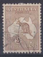 MMY28) Australia 1916 2nd wmk 2/- Brown Kangaroo