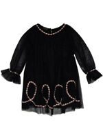 Kate Mack NWT Girls Black Party Dress Sizes 4-7 Boho Style