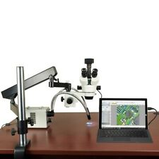 2.1X-225X 18MP USB3 Digital Zoom Stereo Articulating Microscope 30W LED Y-Light