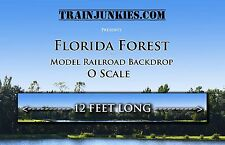 "Train Junkies O Scale ""Florida Forest"" Model Railroad Backdrop 144""x 24"""