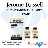 Jerome Russell Bblonde High Lift Powder Bleach & 2 x Cream Peroxide 40VOL 12%