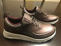 New Nike Air Max Thea PRM Metallic Mahogany Sneaker Shoes Size US 8