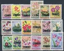 [971] Congo 1960 Flowers good Set very fine MNH Stamps Value $88