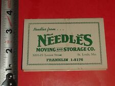 PCG337 Vintage Empty Needle Book Ad Needles Moving and Storage St.Louis MO