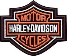 Harley Davidson Aufnäher/Patch Bar & Shield orange Größe ca. 7,7 cm x 6,5 cm