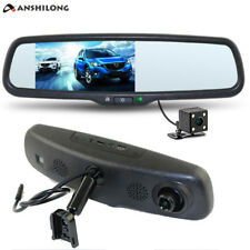 "5"" Car Rear view Mirror DVR Monitor HD 1080P Camera Kits w/Bracket Dual Record"