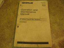 Caterpillar C7 Urban Transit Bus Engine Operation Maintenance Manual