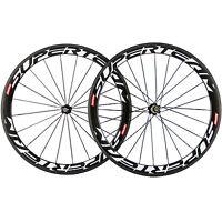 SUPERTEAM Road Bicycle 50mm Carbon Clincher Cheelset 700C Carbon Fiber Wheels