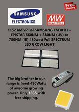 480w Samsung LM301H+660nm IR & UV full spec LED grow light Quantum Board 4000w