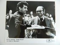 Plácido Domingo, Renato Bruson Opera Foto Analogica Baroni C.1976