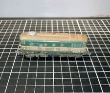 Vintage Gold & Green Metal Tin Carriage Railroad Engine Locomotive Collectible