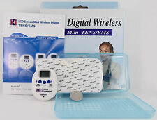 DIGITAL WIRELESS MINI TENS MACHINE timer & 10 programs