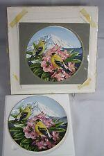 Janene Grende Original Artist Proof Painting & Decorative Plate Proof 1988 OOAK
