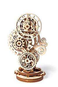Mechanical UGEARS wooden 3D puzzle Model Steampunk Clock Construction Set