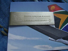 Geldscheinklammer South African Airways A Star Alliance Member silberfarben