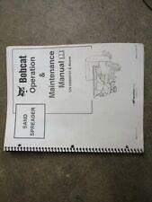 Bobcat Sand Spreader Owners Amp Maintenance Manual