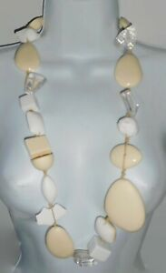 Sobral Aventuras Chunky Marfim Long Statement Artist Made Bead Necklace