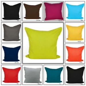 "Plain Cushion Cover 100% Cotton Home Sofa Décor Size 18""x18""(45cm)"