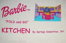 """Printed Fabric Panel to Make the Barbie """"Fold & Go"""" Kitchen - Add a Room #5702"""