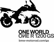 BMW MOTORCYCLE R1200GS/GSA ONE WORLD DECAL/STICKER. !!!
