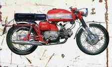 Aermacchi 250 Ala Verde 1970 Aged Vintage SIGN A4 Retro
