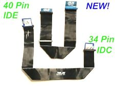 Both ASUS IDE PATA 40 Pin CD-ROM Hard Drive + 34 Pin IDC Floppy Ribbon Cable