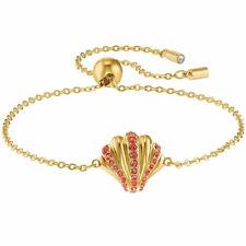 Swarovski para mujer Pulsera Shell Chapado En Tono Dorado Cadena Cristales Rojos 5524181