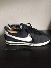 Nike Classic Cortez Nylon Sneakers Shoes Black White Men's 10 Vintage