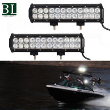 2Pcs 12V/24V 12inch Spot Flood LED Work Light Bar Off Road Boat Fog Driving Lamp