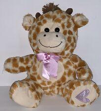 "Kellytoy Baby Giraffe Plush Pink Heart And Ribbon SOFT EUC 12"""