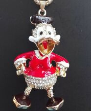 Betsey Johnson Necklace Donald Duck Red Gold Donald Duck Adorable