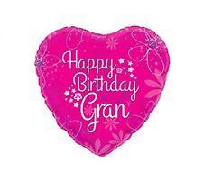 Feliz Cumpleaños Gran Rosa Forma De Corazón 18cm Globo metalizado